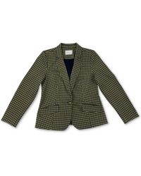 Charter Club Petite Plaid Knit Blazer, Created For Macy's - Green