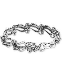 Carolyn Pollack Ornate Link Bracelet In Sterling Silver - Metallic
