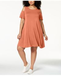 Style & Co. - Plus Size Flutter-sleeve Cold-shoulder Dress, Created For Macy's - Lyst