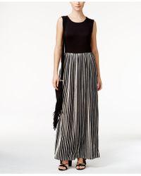 Olivia & Grace - Striped Maxi Dress - Lyst