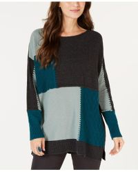 Style & Co. - Patch Colorblocked Tunic Jumper, Created For Macy's - Lyst