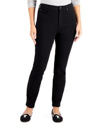 Charter Club Tummy-control High-rise Skinny Jeans, Created For Macy's - Black