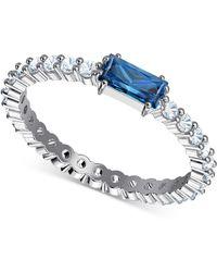 Swarovski - Silver-tone Crystal Ring - Lyst