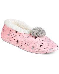 Kensie Women's Star-print Slipper Socks - Pink