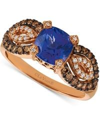 Le Vian - ® Blueberry Tanzanite (1-3/8 Ct. T.w.) & Diamond (3/8 Ct. T.w.) Ring In 14k Rose Gold - Lyst