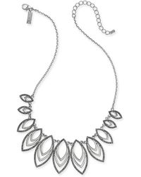 """INC International Concepts - Inc Navette Statement Necklace, 18"""" + 3"""" Extender, Created For Macy's - Lyst"""