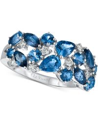 Le Vian - Sapphire (2-1/5 Ct. T.w.) And Diamond (1/7 Ct. T.w.) Ring In 14k White Gold - Lyst