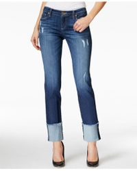 Kut From The Kloth - Cameron Cuffed Straight-leg Jeans - Lyst