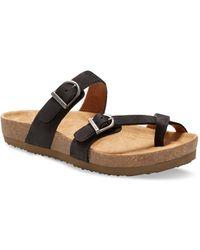 Eastland Tiogo Thong Sandals - Black