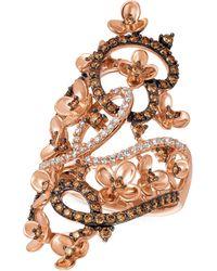 Le Vian | Diamond Fancy Scroll Floral Ring (1-1/6 Ct. T.w.) In 14k Rose Gold | Lyst