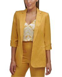 Calvin Klein Roll-tab-sleeve Jacket - Yellow