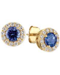 Le Vian - Tanzanite (1 Ct. T.w.) And Diamond (1/3 Ct. T.w.) Halo Stud Earrings In 14k Gold - Lyst