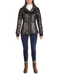 Guess Quilted Puffer Coat - Black