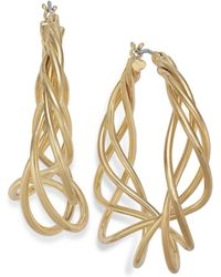 Charter Club - Gold-tone Spiral Hoop Earrings - Lyst