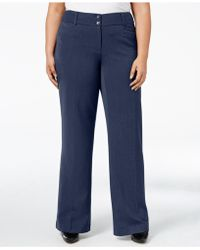 Alfani - Plus & Petite Plus Size Curvy-fit Tummy Control Slimming Bootcut Pants, Created For Macy's - Lyst