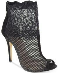 Chinese Laundry Jeopardy Mesh Lace Booties - Black