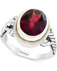 Effy Collection - Rhodolite Garnet Ring (3-9/10 Ct. T.w.) In Sterling Silver & 18k Gold - Lyst