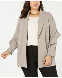 Alfani - Plus Size Flounce-sleeve Jacket, Created For Macy's - Lyst