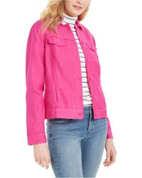 Charter Club Linen Jacket, Created For Macy's - Pink