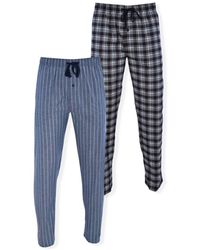 Hanes Stretch Woven Sleep Pants, Pack Of 2 - Blue