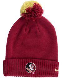 44547e762c3 Nike - Florida State Seminoles Beanie Sideline Pom Hat - Lyst