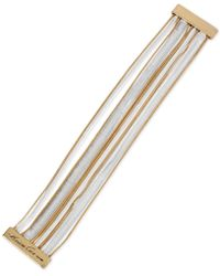 Kenneth Cole - Two-tone Multi-chain Magnetic Bracelet - Lyst
