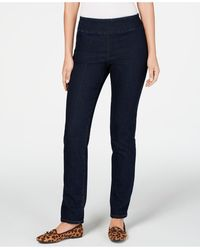 Charter Club Cambridge Pull-on Slim Fit Jeans, Created For Macy's - Blue