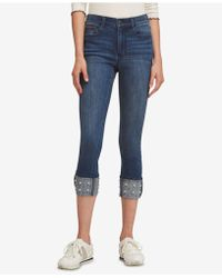 DKNY - Cuffed Beaded Jeans, Created For Macy's - Lyst