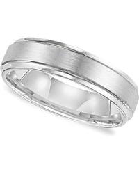 Triton - Men's White Tungsten Carbide Ring, Comfort Fit Wedding Band (6mm) - Lyst