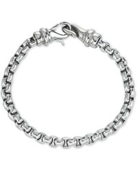 Macy's Linked Bracelet In Stainless Steel, Created For - Metallic