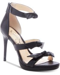2a0d1aa6f09a Lyst - Jessica Simpson Reenah Suede Platform Dress Sandals in Black