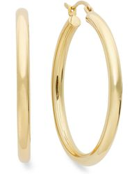 Signature Gold - Polished Hoop Earrings In 14k Gold - Lyst