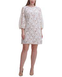 Vince Camuto Plus Size Lace Shift Dress - White