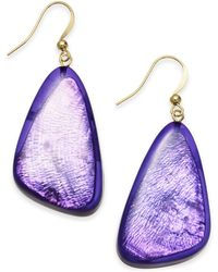Style & Co. Resin Drop Earrings, Created For Macy's - Purple