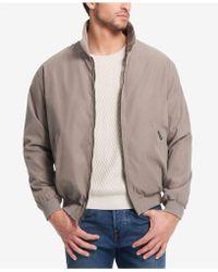 7aeed4dbf Lyst - Weatherproof Faux-suede Full-zip Bomber Jacket in Brown for Men