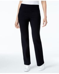 Style & Co. Petite Boot-cut Yoga Pants - Black