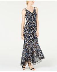 Calvin Klein - Embroidered High-low Gown - Lyst