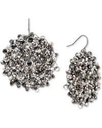 Kenneth Cole Woven Faceted Bead Drop Earring - Black
