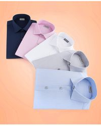 Kenneth Cole Reaction Slim-fit Techni-cole Flex Collar Solid Dress Shirt - Black