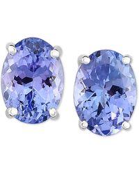 Macy's - Tanzanite Stud Earrings (1-5/8 Ct. T.w.) In 14k White Gold - Lyst