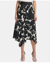 a5f8e9188 DKNY Front Slit Skirt in Black - Lyst