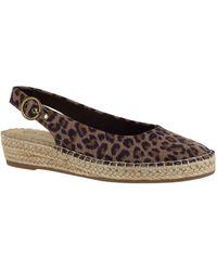 Bella Vita Espadrille Wedge Sandals - Brown
