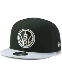 a8b11901ebf45 Lyst - KTZ San Antonio Spurs Dog Ear 59fifty Cap in Black for Men