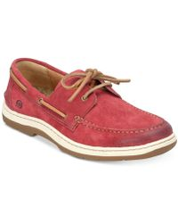 Born Ocean 2-eye Distressed Boat Shoes - Red