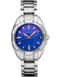 Seiko - Diamond-accent Stainless Steel Bracelet Watch 33.3mm - Lyst
