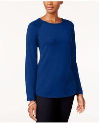 Karen Scott Cotton Jumper, Created For Macy's - Blue