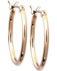 Nine West - Earrings, Gold-tone Small Tube Hoop Earrings - Lyst