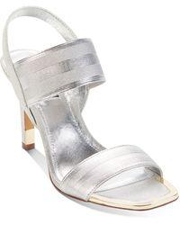 DKNY Bryson Slingback Sandals - Metallic