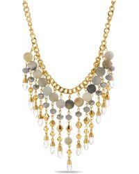Catherine Malandrino Curb Chain Dangle Necklace - Metallic