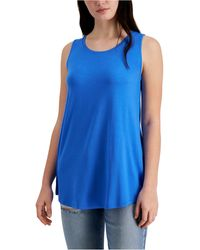 Style & Co. Swing Tank Top, Created For Macy's - Blue